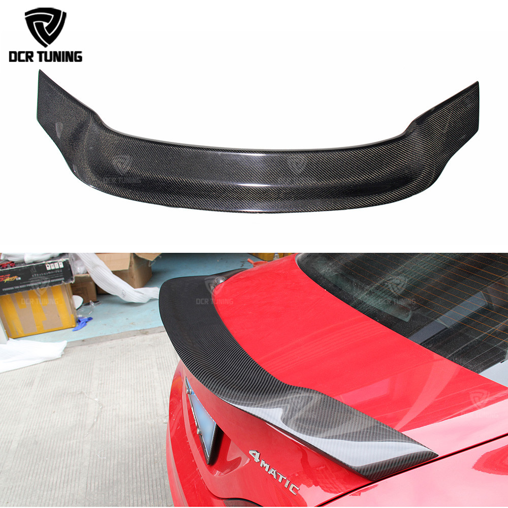 For Mercedes CLA Spoiler CLA45 W117 C117 Carbon Fiber Rear Trunk Wings Spoiler cla 200 250 260 Renntech 2013 2014 2015 2016 - UP for mercedes benz cla class w117 cla180 cla200 cla250 cla45 amg carbon fiber front lip splitter flap canard fits sporty car amg