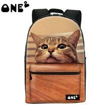 ONE2 Дизайн pet cat печать рюкзак для детей нейлон школа мешок и 3D животных рюкзак для девочек-подростков школьная Сумка рюкзак
