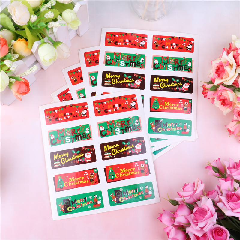 Office & School Supplies Peerless Diy Scrapbooking Merry Christmas Gift Kraft Sticker Cookie/cake/gift Labels Stickers Kitchen Sweets Party Seal 2.5*6cm