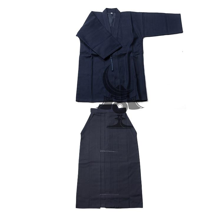 Japanese Kendo  Hakama Suit Top Shirt+Hakama Set Cotton Judo Wushu Clothing Kung Fu Uniform Martial Arts Uniform