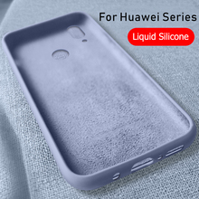 Liquid Silicone Case For Huawei P30 Pro Mate 20 Pro P20 Soft Smooth Touch Cover For Huawei Y9 2018 2019 Nova 2 Lite Honor 7A 7S цена и фото