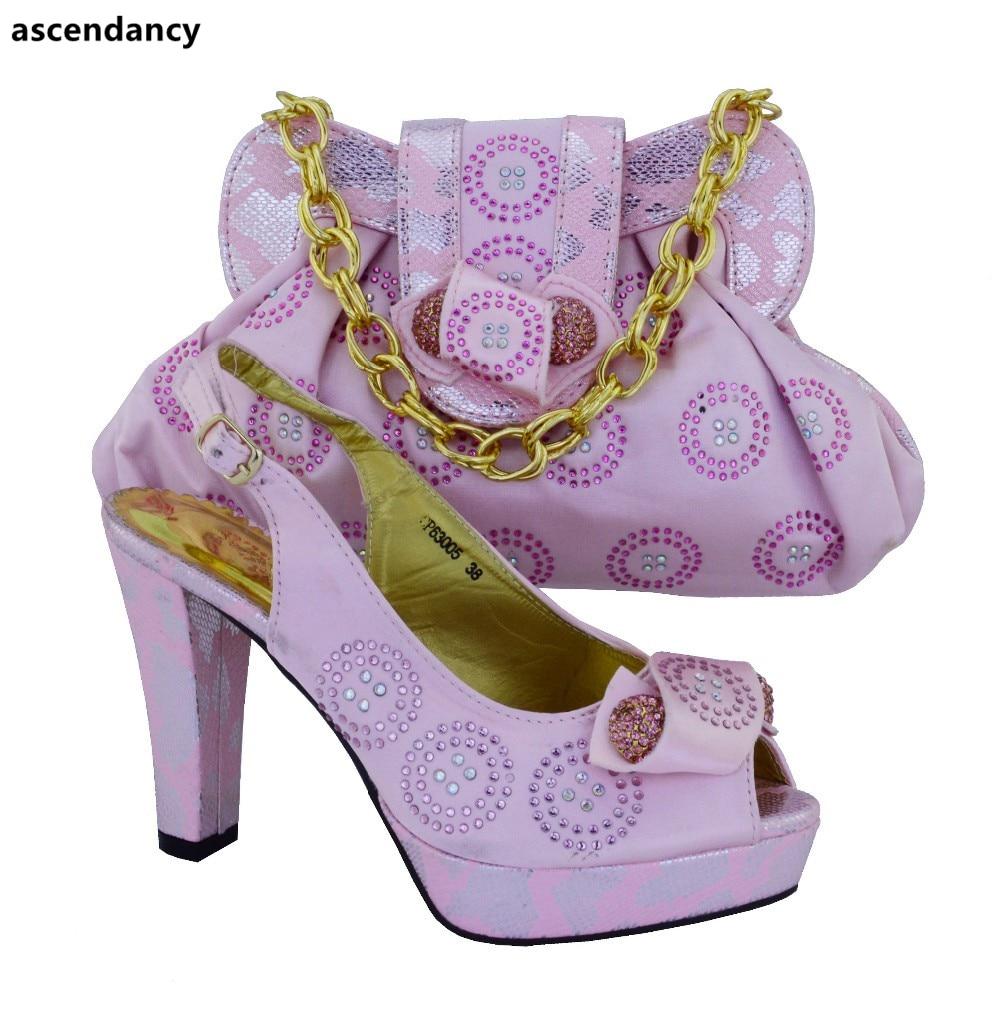 Zapatos Bolso Para Boda Bolsas Juego Rosado Rhinestone Color Nigeriano Alta water Con amarillo Decoradas Green Conjunto Verde A De Calidad Bolsa Y La ra6qPrw