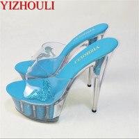 YIZHOULI 15 CM High Heels Slippers Club Night Shoes Sexy Pole Dancing Shoes Platform Women's Dance Shoes
