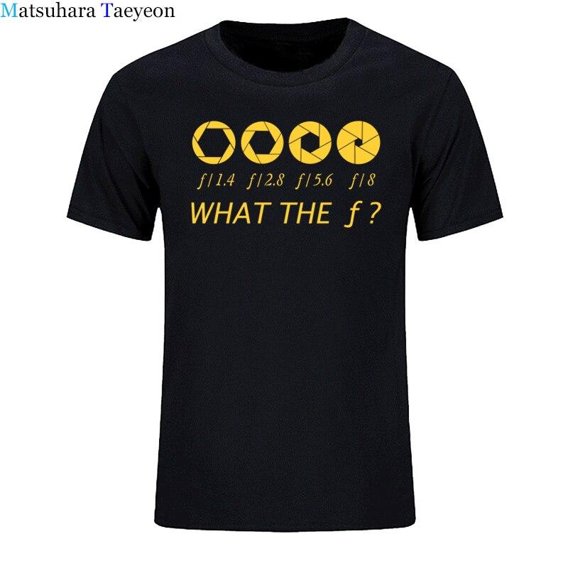 Photographe-ce que le f-stop hommes T-shirt 100% coton décontracté hommes t-shirts marque vêtements hauts t-shirts vêtements drôles
