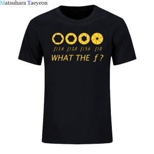 Photographer - What The F - Stop Men T-shirt 100% Cotton Casual Men's T Shirts Brand Clothing Tops Tees Funny Clothing(China)