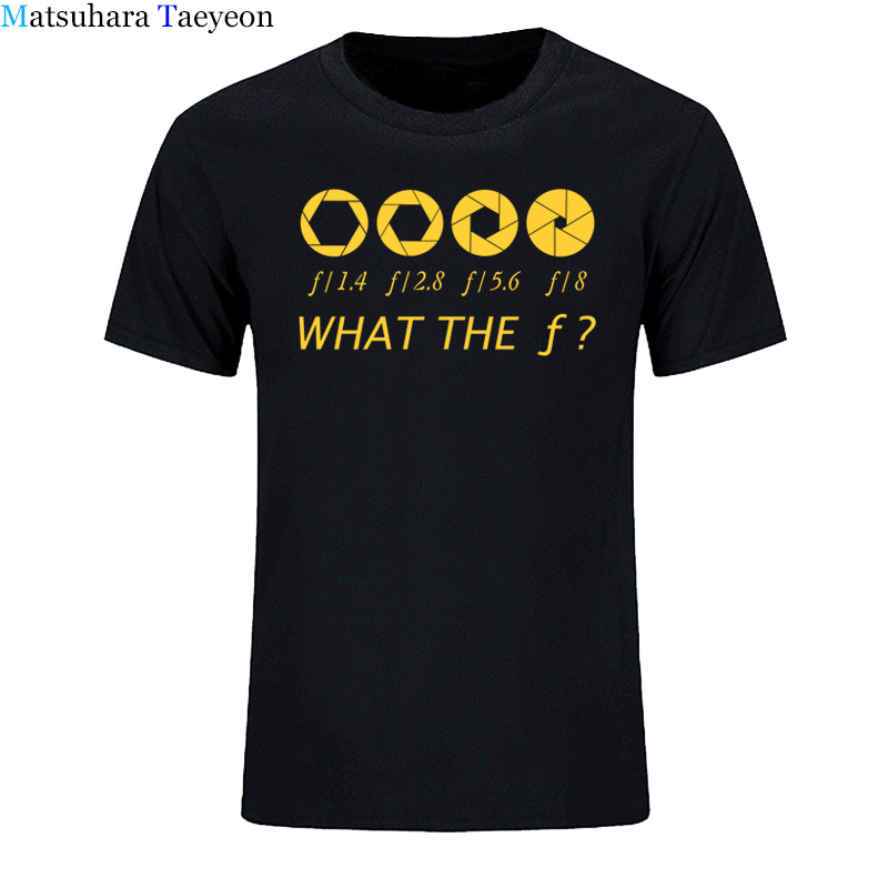 Photographer - What The F - Stop Men   T  -  shirt   100% Cotton Casual Men's   T     Shirts   Brand Clothing Tops Tees Funny Clothing