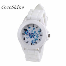 CocoShine B-112 Fashion Silicone Rubber Jelly Gel Quartz Analog Sports Women Wrist Watch wholesale