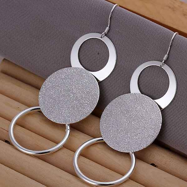 Wholesale Free Shipping Charm Christmas Gifts Fashion 925 Jewelry Pretty Silver Color Earrings For Women O Earrings E012