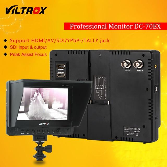 """Viltrox DC-70EX Pro 7 """"4 K HDMI SDI Entrada de CONTAGEM de AV Saída de Vídeo HD Campo de Visualização Do Monitor LCD Da Câmera de Vídeo para Canon Nikon Sony"""
