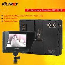Viltrox DC-70EX Pro 7 «4 K HDMI SDI AV TALLY Вход Выход видео HD ЖК-дисплей камера видеомонитор Дисплей поле для Canon Nikon sony
