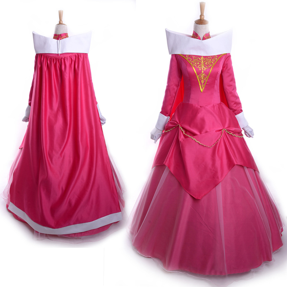 La bella durmiente princesa aurora traje adulto mujeres cosplay ...