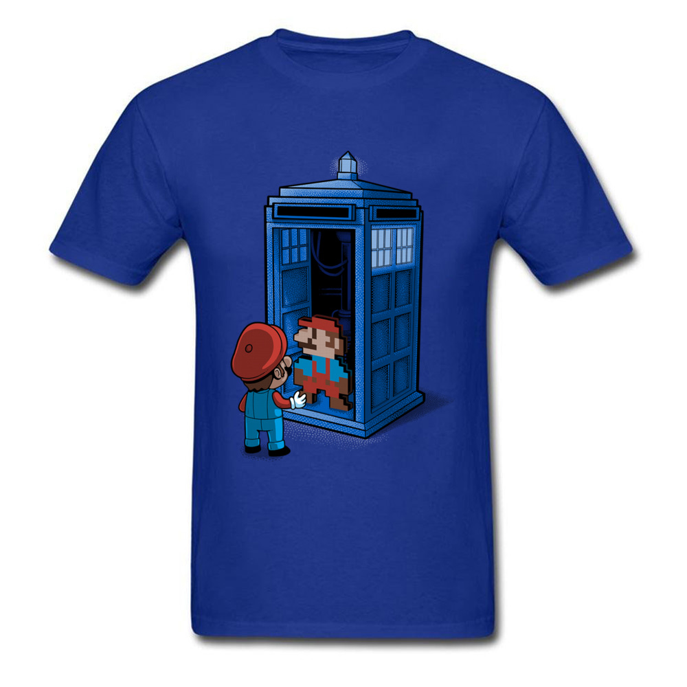 Back To 8 Bits T-shirt Super Mario T Shirt Men Funny Cartoon Tshirts Doctor Who Tardis Tops 90s Game GG Tee Shirts