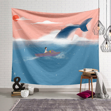 Creative Whale Macrame Wall Hanging Tapestry Bohemia Living Room Decoration Wall Carpet Tapestry Hippie Mattress Yoga Mat oversized whale round mat