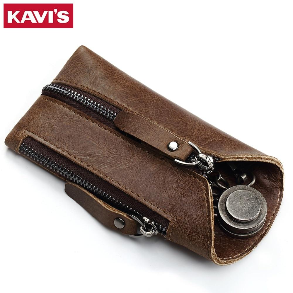 KAVIS Genuine Leather Housekeeper font b Key b font font b Wallet b font Smart Car