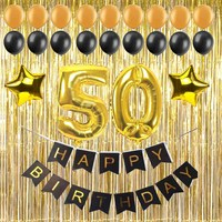 30 40 50 60 Years Adult Birthday Party Diy Decoration Supply Paper Banner Large Number Foil