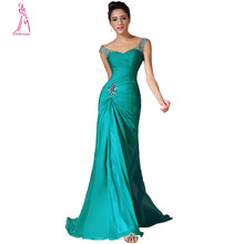 JY Best Selling Mermaid Long Green Evening Dress Chiffon Pleat Sweetheart Prom Dresses Elegant Formal Gown