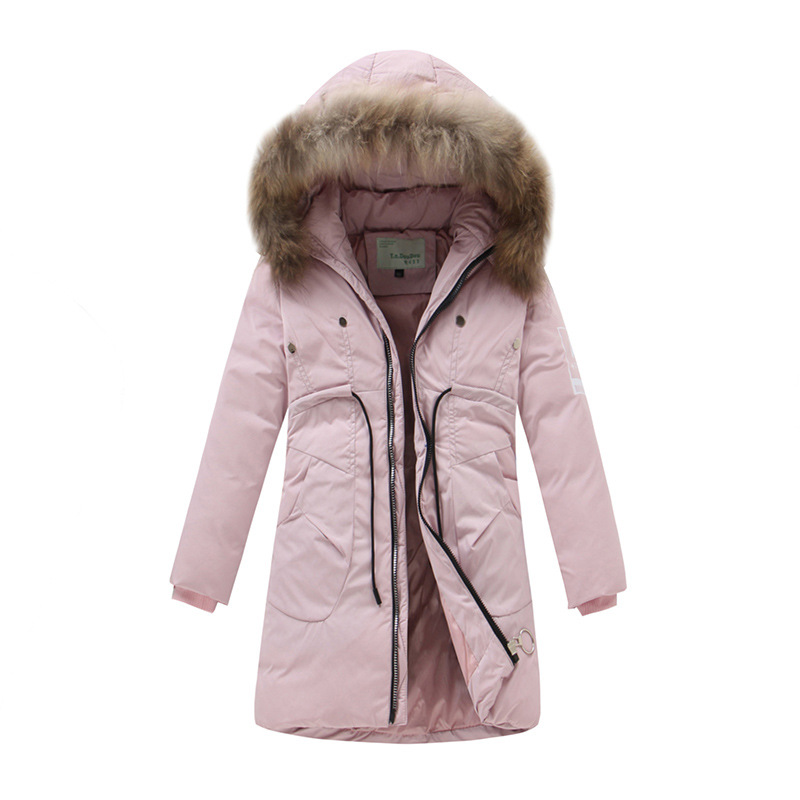 2017 New Winter Girl's Down Jackets Baby Girl Long Sections Down Coats Thick Duck Down Warm Jacket Children Outerwears -30degree new 2016 baby down coats set baby down jacket suspenders girl