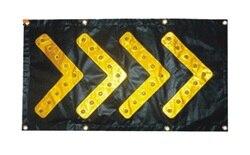 46 cm * 85 cm faltbare LED verkehrs führung PVC richtung pfeil sicherheit warnung blinkt leuchtet Magnetischen saug LED wegweiser