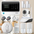 Touch App WIFI GSM Alarm System remote control APP application Security Home GSM Alarm Burglar Security alarm anti pet sensor