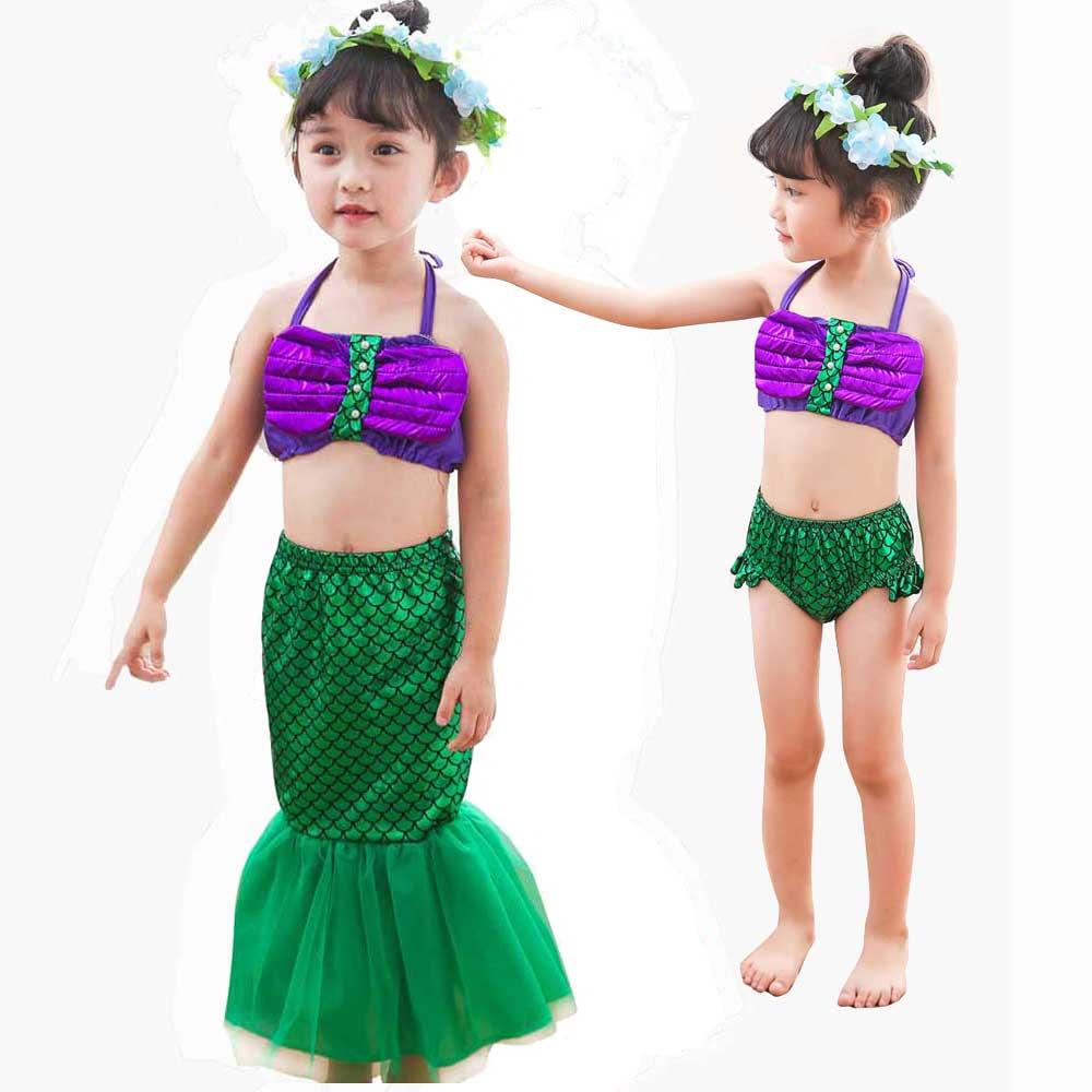 Girls Sexy Costumes The Little Mermaid Ariel Fancy Dress Cosplay Costume Princess Ariel Mermaid Dress And Wig Set