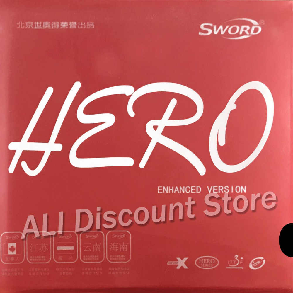 Sword Hero New Enhanced Version Pips-In Table Tennis PingPong Rubber With Sponge