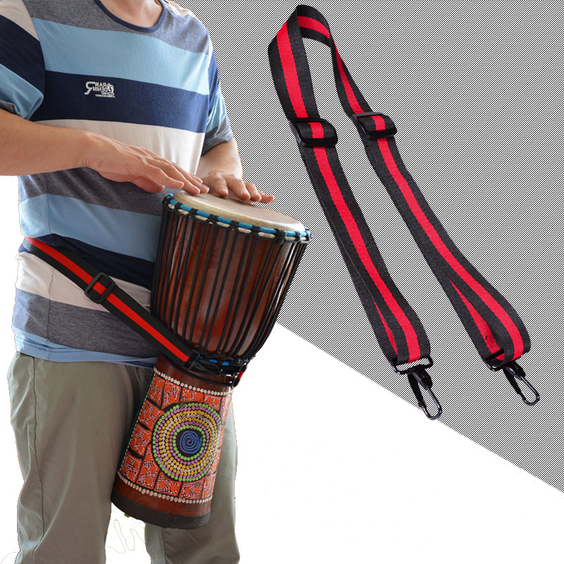 MoonEmbassy Djembe Strap Polyester Cotton Adjustable Snare Drum Straps Accessories