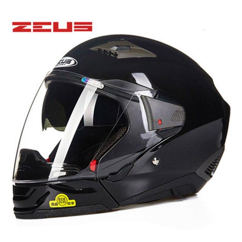 ZEUS Modulaire Casque Moto Casque Intégral Ouvert Visage Couvre-chef multifonction Facile Fermoir Fermeture Coffre-Fort Combiné casques DOT