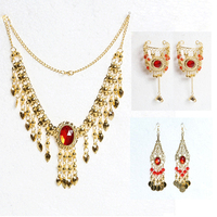 Dancewear Jewelry Set Bollywood Necklace Earrings Bracelets Indian Jewelry Dance Accessories Indian Dance Accessory