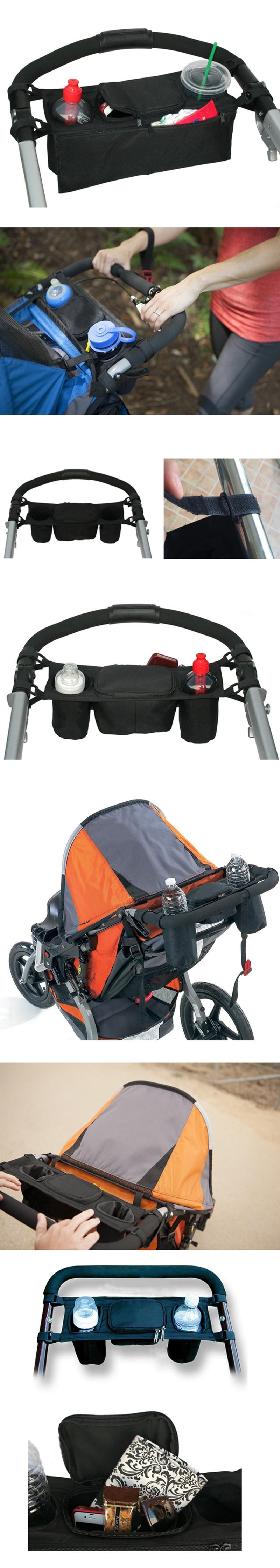 HTB1wSsknmfD8KJjSszhq6zIJFXal Baby Stroller Bag Infant Nappy Bags Outdoor Carriage Hanging Bottle Storage Wheelchair Organizer Portable Maternity Bolsa T0507