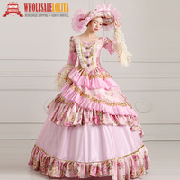 HOT!! Global FreeShipping 18th Century Marie Antoinette Renaissance Victorian Period Rococo Belle Prom Party Gowns Dress