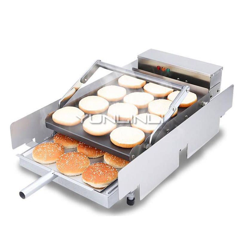 220V Bake Burger Machine Commercial Hamburger Baking Machine Double Layer Batch Bun Bread Toaster IHBJ-5