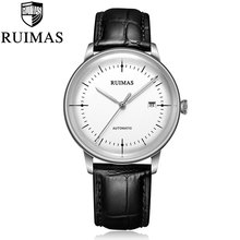 Ruimas Automatic Miyota Mechanical Watch Men Thin Sports Mens Watches Wristwatches Waterproof Relogio Masculino 2018