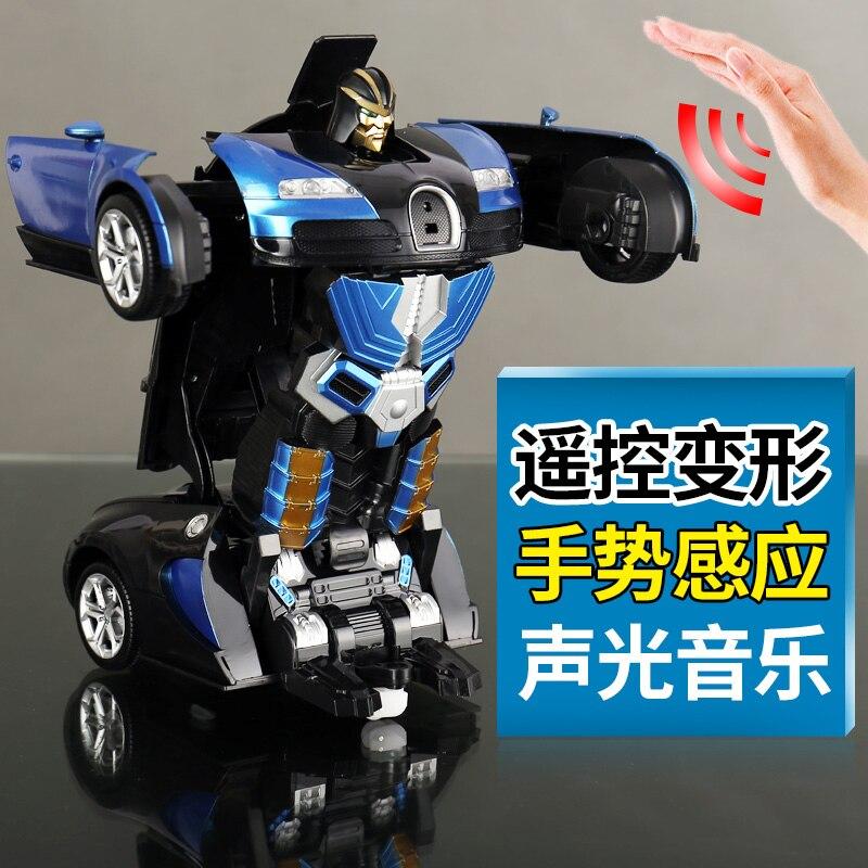 Пульт дистанционного управления трансформатор робот RC автомобиль мальчика подарок