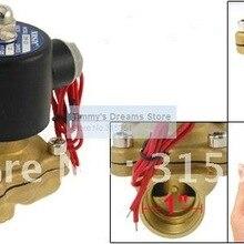 1 ''водяной Соленоидный клапан воздушный масляный латунный клапан NBR 2W250-25 DC12V DC24V AC110V или AC220V