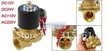 Бесплатная Доставка 1 »Вода Электромагнитный Клапан Воздуха Масло Латунь Клапан NBR 2W250-25 DC12V DC24V AC110V или AC220V
