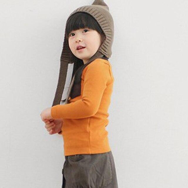 5 Colors Children Clothes Girl Boy Long Sleeve Cotton O-Neck T Shirts 2019 Kids Clothing Tops Basic Pocket Decor T-Shirt 3