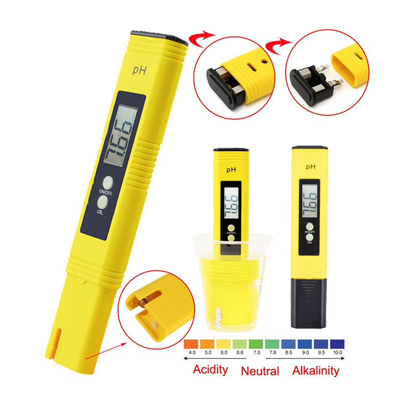 Car water tool Protable Digital PH Meter Tester Metre Aquarium Pool Water Wine Urine LCD Monitor Phmetro PH Water tester 0-14ph цена