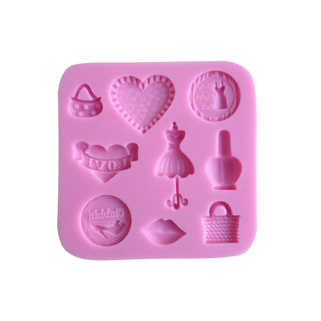 Purse Shaped Chocolate Candy Jello 3D Silicone Mold Mould Cartoon Figre Cake Tools Soap Sugarcraft Decoration