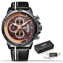 Luxury Military Sports Watch Leather LIGE9906