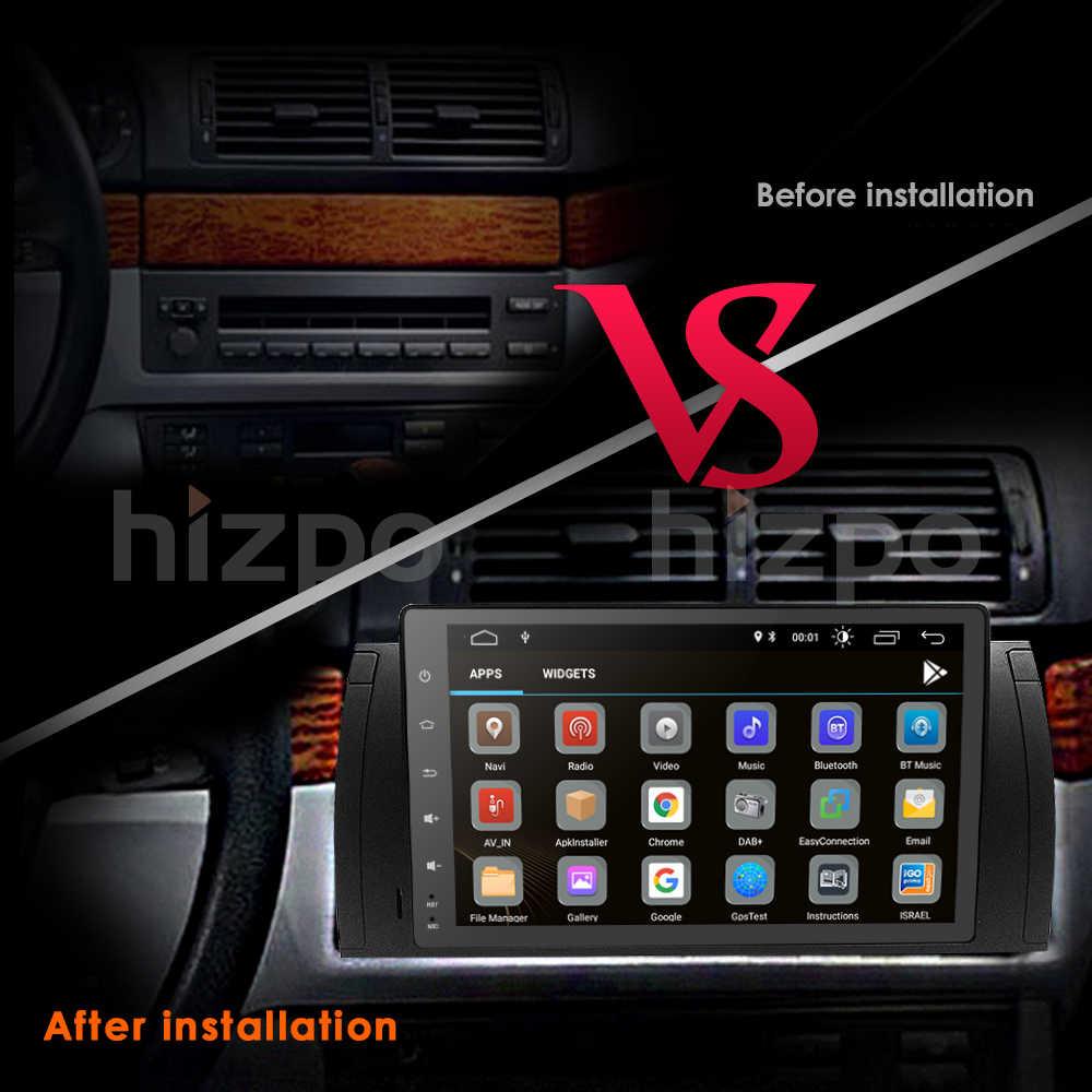 Четырехъядерный авто без DVDplayer StereoAndroid9.0 gps-навигационная Bluetooth Камера для BMW E39 X5 рулевое колесо dvr SWC BT dtv2