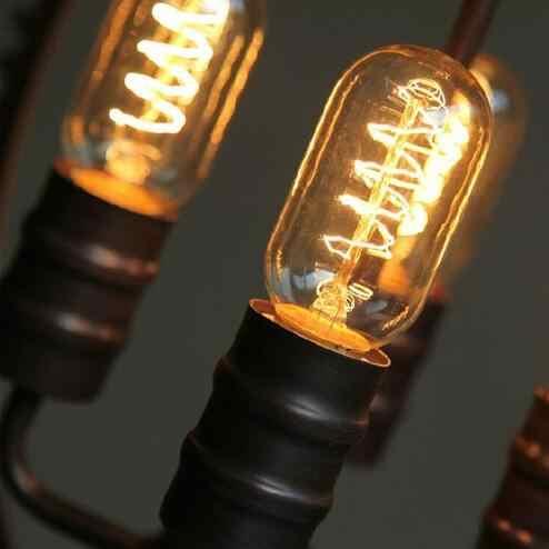 L ريترو ستايل الصناعية الأمريكية الفن درج الثريا مصمم الإبداعية والعتاد شخصية شريط المطاوع الحديد مصابيح led