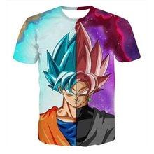 Dragon Ball Z T-shirts Mens Summer 3D Printing Super Saiyan Son Goku Black Zamasu Vegeta Dragonball Casual T Shirt Tops Tee