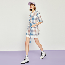 Toyouth Amerian and European Elegant Plaid Blazers 2019 Ladies Chic Notched Coll