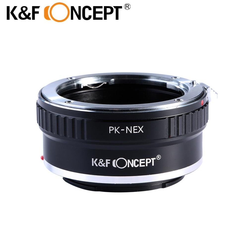 K & F тұжырымдамасы PK-NEX Камера Линзалар адаптері Pentax PK K Mount объективіне арналған Sony NEX E-камерасы Камера Body Sony NEX-3, NEX-5, NEX-6