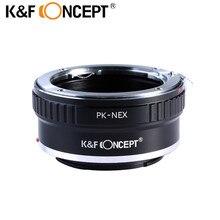 K&F Concept PK-NEX Camera Lens Mount Adapter For Pentax PK K Mount Lens to Sony NEX E-Mount Camera Body Sony NEX-3, NEX-5, NEX-6
