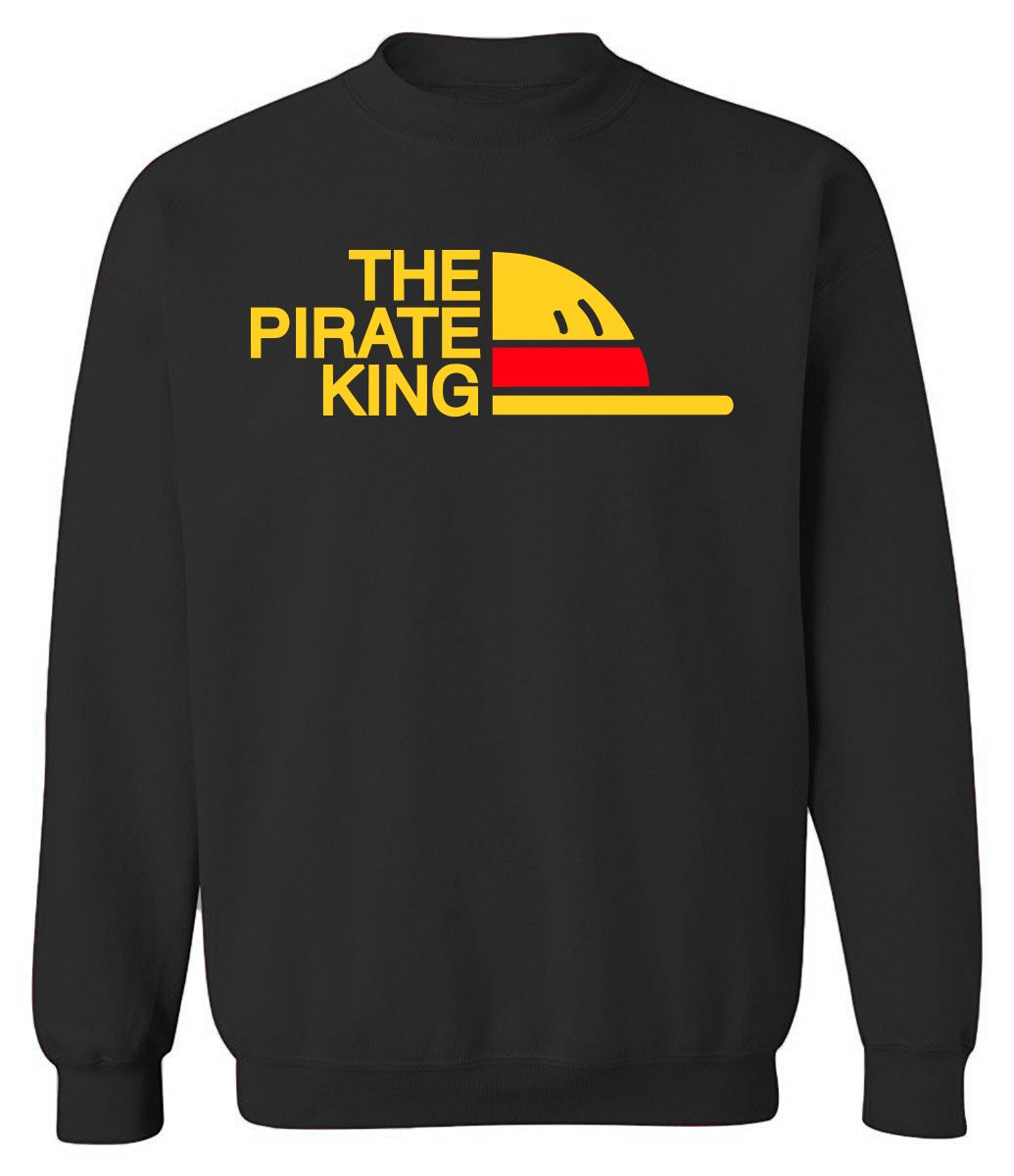 THE PIRATE KING Print Hip Hop Streetwear Hoodies Men 2019 Autumn Winter Men's Sweatshirt ONE PIECE Harajuku Hoodie Hot Pullover