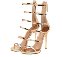Fashion Gladiator Style Women Sandals Multi Color High Heels Ankle Wrap Shoes Spool High Heels Sexy Summer Shoes For Women