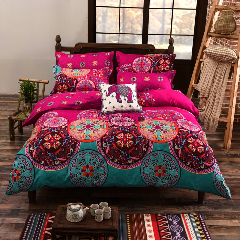 bohemia/boho duvet cover set,winter comforter cover +Pillow Sham 3pcs bedding sets queen,free shipping