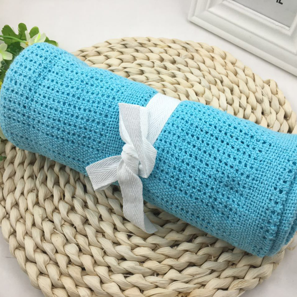 80*100CM Newborns Knitted Swaddle Wrap Muslin Blankets Super Soft Toddler Winter Sleeping Bedding Carseat Cover Baby Bunny Quilt