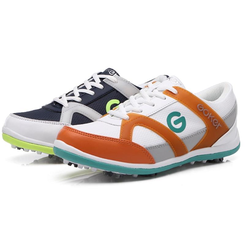 Оригинальный дышащая обувь для гольфа женские водонепроницаемые противоскользящие амортизацией спортивные туфли женские mirofiber кожа спорт... ...